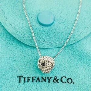 Tiffany Twist Knot Pendant Tied Ball Necklace